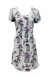 Bird Cages Tunic Grey