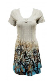 Branches Tunic Blue