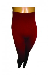 Burgundy High Waisted Thermal Leggings
