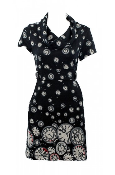 Classic Clocks Tunic Black