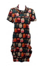 Cute Owls Tunic Orange