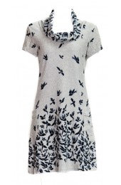 Flying Bird Cages Tunic Beige