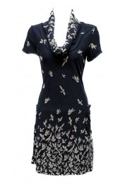 Flying Birds Tunic Navy
