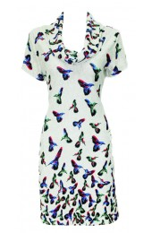 Little Humming Birds Tunic Grey