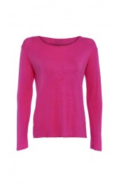 Long Sleeve Basic Top Coral