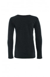 Long Sleeve Basic Top Dark Grey