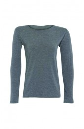 Long Sleeve Basic Top Light Grey