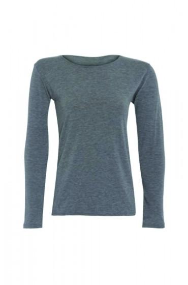 Long Sleeve Basic Top Light Grey