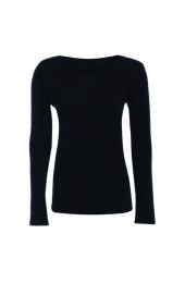 Long Sleeve Basic Top Navy