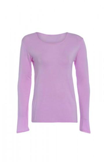 Long Sleeve Basic Top Pink