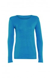 Long Sleeve Basic Top Turquoise