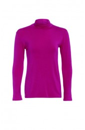 Long Sleeve Polo Cerise