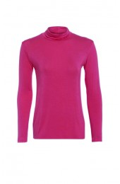 Long Sleeve Polo Coral