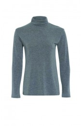 Long Sleeve Polo Light Grey