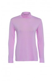 Long Sleeve Polo Pink