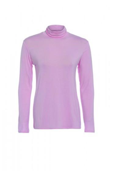 Long Sleeve Polo Pink