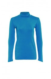 Long Sleeve Polo Turquoise