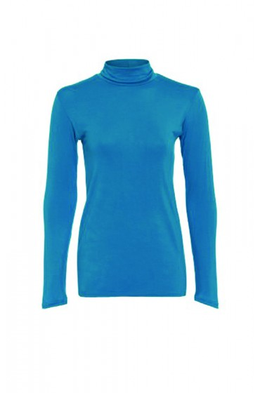 Long Sleeve Polo Turquoise