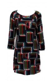 Multi Coloured Squares Tunic Long Sleeve