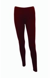 Plain Wine Red Leggings