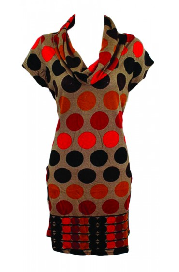 Spotty Tunic Red